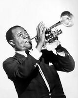 1959 R&B Jazz LOUIS ARMSTRONG Glossy 8x10 Photo Music Print Poster