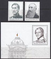 BELGIUM : 1999 Kings of Belgium set 2 + M.Sheet  SG3466-7+MS3468 MNH