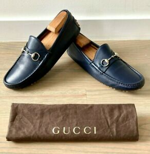 Gucci Men's Horse Bit Driving Moccasins / Loafers size 9 G = US 10 *Authentic