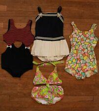 Lot Vintage 60s 70s Girls Swim Suit Bathing Suit Bikini Groovy Daisy Sailor Mod