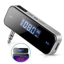 3.5mm In-car FM Transmitter Radio Audio Adapter for iPhone Samsung iPod iPad RF