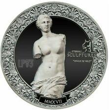2017 10$ Venus de Milo - Eternal Sculptures 2 oz Black Proof Silver Coin,PALAU.