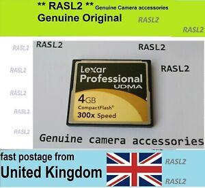 4 GB Lexar Professional UDMA CF Compact Flash Memory Card For Nikon D4 D3 D3X