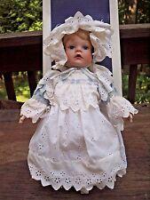 "Judy Berens Moments Treasured Porcelain Baby Doll 16"" Melina 1990 COA Box"