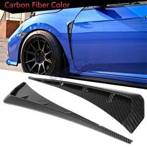 For Honda Civic 10th Gen 2016-20 Front Fender Vents Trim Gloss Carbon Fiber AU