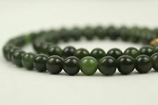 "6mm Collar De Jade 16"" 6 mm Collar De Jade Granos Natural Verde Jade"
