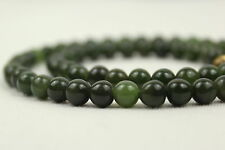 "6mm Jade Necklace 16"" 6 mm Jade Beads Natural Green Jade Necklace"