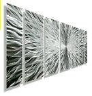 Large Modern Brilliant Silver Metal Wall Art Sculpture Contemporary  Jon Allen