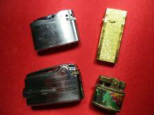 Vtg Cigarette Lighters-Lot Of 4 Japan England Interpur- Ronson - Royal Star- Hms