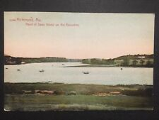 Antique POSTCARD c1907-19 Swan Island on the Kennebec RICHMOND, ME Maine (20551)