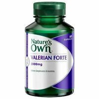 NATURE'S OWN VALERIAN FORTE 2000MG 60 CAPSULES RELIEVES INSOMNIA NATURES