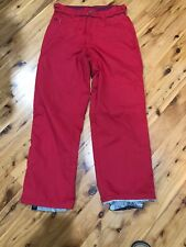 Womens Large Vans Functional Snow Ski Board Pants Red Waterproof Snowboard