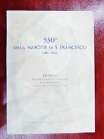 LIBRO SUL 550° DELLA NASCITA DI S. FRANCESCO (1416-1966)