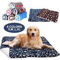 Dog Cat Puppy Pet Fleece Blanket Mat Mattress Cushion Sleeping Bed Soft Warm Pad