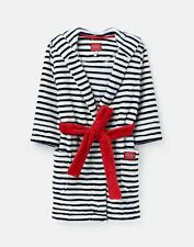 Joules 208487 Cat Ears Dressing Gown - CREAM NAVY STRIPE
