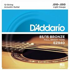 D'Addario EZ940 American Bronze 12-String Acoustic Guitar Strings -Light - 10-50