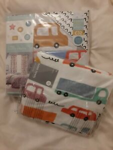 NEXT 2 Pack Boys Transport Car lorry Single Duvet Bed Set & Matching Hand Towel
