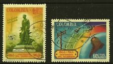 Colombia Scott #C469-70, Singles 1965 FVF Used