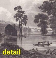 1834 steel engraving William Guy Wall: ALBANY, Hudson River School