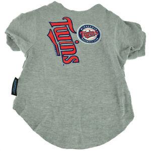 MLB Minnesota Twins Pet Medium Gray Tshirt Dog Hunter Apparel Fan Sport Baseball