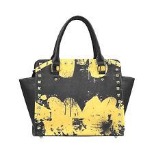 batman logo Rivet Shoulder Handbag for Women