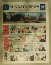 Dick Tracy Sunday Page by Chester Gould from 6/9/1974 Tabloid Page Size