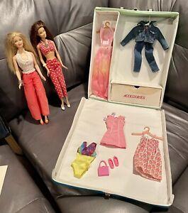 1968 World of Barbie Doll Case w/ Clothes Vintage Original 1960s +2 Barbies