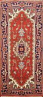 Traditional Geometric Heriz Hand-knotted Oriental Area Rug Wool Foyer Carpet 2x4