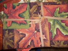 Leaves Placemats  set 4 Tapestry Autumn Harvest Fall