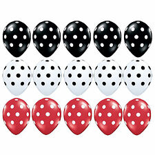 15pcs Black Red White Polka dots Mickey Mouse Balloons Birthday Party Decoration