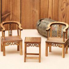 Creative Desk Decor Emulational Chair Home Wooden Accessories Retro Mini Chair