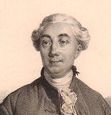Portrait Jacques Necker Genève Suisse Ministre des Finances Louis XV 1833