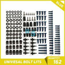 Blue 162Pcs Fairings Bolt Kit Fastener Nuts Screws Fit Yamaha R1 R3 R6 R125