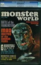 MONSTER WORLD 1 CGC 7.0 OWWP NICE 1964