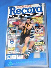 1993 Football Record Video AFL Footy VHS 70 Min Issue 1 Volume 1 April 1st ever