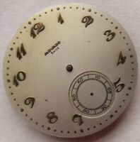 Movado pocket watch movement & dial cal 800M balance Ok. to restore