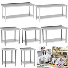 More details for commercial catering preparation table food prep worktop bench stainless steel uk