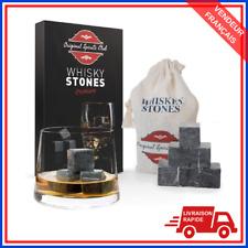 Epicurean Acier Inoxydable Whisky Whiskey Pierres Lot de 4 Ice Cube Verre Cadeau
