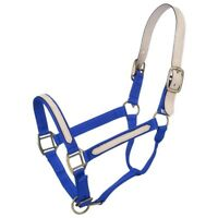 Tough-1 Nylon Break-Away Halter Replaceable Leather Crown Horse Size