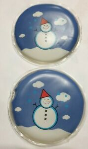 NEW 2pk SNOW MAN HAND WARMERS PROVIDE 60 mins HEAT RE-USABLE up to 1000 TIMES