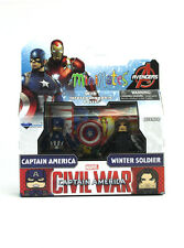 Marvel Minimates Captain America & Winter Soldier TRU Series Civil War Movie New