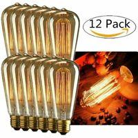 INNOCCY Edison Light Bulb , 60W E26 E27 Vintage Bulb Dimmable ST64 Antique 12 pc