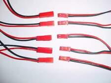 JST BEC Stecker / Buchse mit Silikonkabel 10cm lang / 5 Paar