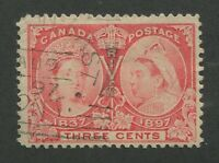 "CANADA #53 USED JUBILEE SQUARED CIRCLE CANCEL ""LONDON EAST"""