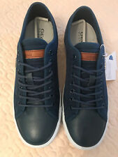 GEOX Respira Men's Navy Blue Comfort Suede/Leather Shoes, Size 7 (US), NIB