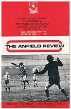 Liverpool v TOTTENHAM HOTSPUR Programme Division1,31ST March 1973