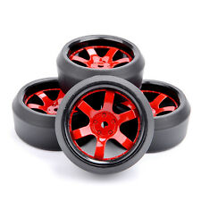 4X 6mm Offset RC Drift PP Tires Wheel Rim D6NKR+PP0370 Fit HPI 1:10 Off-Road Car