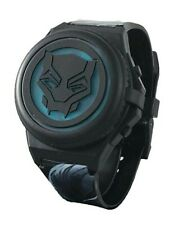Black Panther Flashing Opening Face Cover LCD Watch Kid's