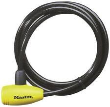 "New Master Lock 8154Dpf 3/8"" X 6' Vinyl Coated Steel Keyed Cable Lock 8715377"
