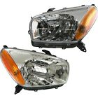 Headlight Set For 2001-2003 Toyota RAV4 Left and Right With Bulb 2Pc